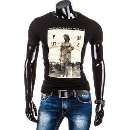 BASIC Pánské tričko s krátkým rukávem (rx1451) velikost: XL, odstíny barev: černá