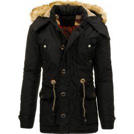 BASIC Pánská černá zimní bunda (tx1366) velikost: 2XL, odstíny barev: černá