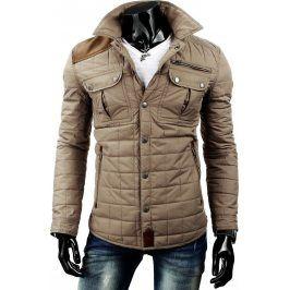 BASIC Pánská béžová bunda (tx1327) velikost: M, odstíny barev: béžová