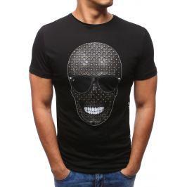BASIC Pánské černé tričko s potiskem  (rx2807) velikost: S, odstíny barev: černá