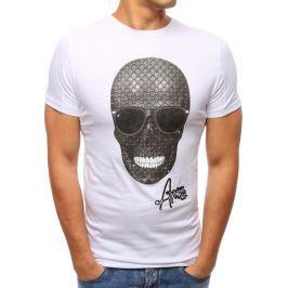 BASIC Pánské bílé tričko s potiskem (rx2809) velikost: S, odstíny barev: bílá