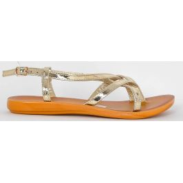 Zlaté sandály LS10-32 velikost: 41, odstíny barev: zlatá