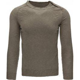 BASIC Pánský béžový svetr (wx0764) velikost: 2XL, odstíny barev: béžová