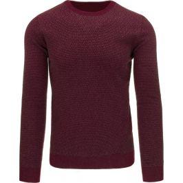 BASIC Pánský bordový svetr (wx0765) velikost: 2XL, odstíny barev: červená