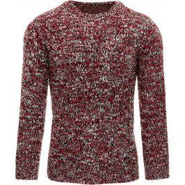 BASIC Pánský bordový svetr (wx0778) velikost: L, odstíny barev: červená