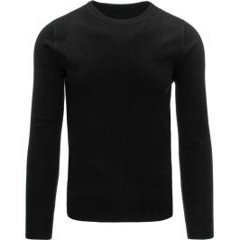 BASIC Pánský černý svetr (wx0855) velikost: 2XL, odstíny barev: černá