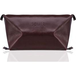 SOLIER Kosmetická taška pro muže (SK01 BROWN-MAROON) Velikost: univerzální