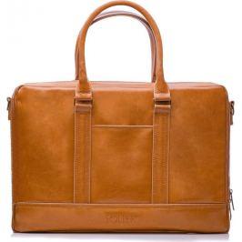 SOLIER Pánská kožená hnědá taška (SL02 CAMEL) Velikost: univerzální