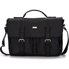 Pánská černá taška SOLIER (S14 black) velikost: univerzální, odstíny barev: černá