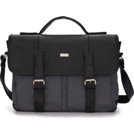 Pánská černo-šedá taška SOLIER (S14 black/grey) velikost: univerzální, odstíny barev: černá