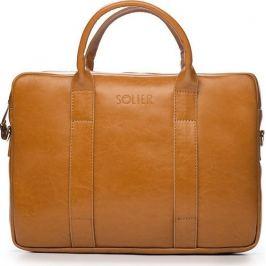 Pánská kožená hnědá taška SOLIER (SL20 CAMEL) Velikost: univerzální