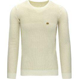 BASIC Pánský béžový svetr (wx0810) velikost: L, odstíny barev: béžová