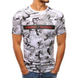 BASIC Pánské bílé tričko s potiskem  (rx2937) velikost: M, odstíny barev: bílá