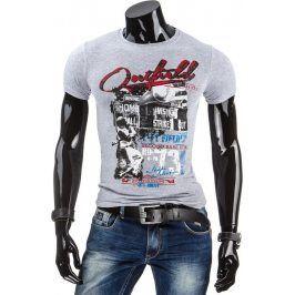BASIC Pánské tričko (rx1522) velikost: 2XL, odstíny barev: šedá
