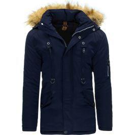 BASIC Zimní tmavě modrá bunda (tx1445) velikost: 3XL, odstíny barev: modrá