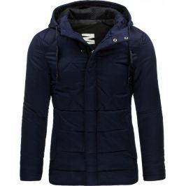 BASIC Pánská tmavě modrá bunda (tx1446) velikost: 2XL, odstíny barev: modrá