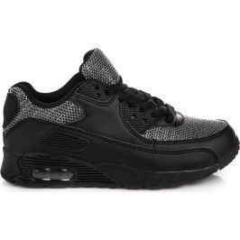 BASIC Dětské sportovní černé boty -  5XC-7202B velikost: 32, odstíny barev: černá