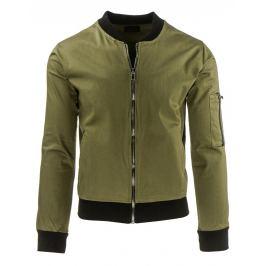 Jarní/podzimní olivová bunda (tx1253)/C24 velikost: M, odstíny barev: zelená
