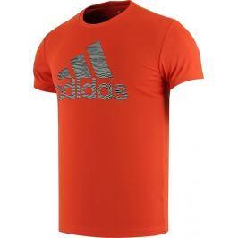 Oranžové tričko Adidas AX Graphic velikost: S, odstíny barev: oranžová
