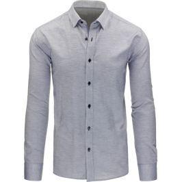 BASIC Pánská šedá košile (dx1129) velikost: XL, odstíny barev: šedá
