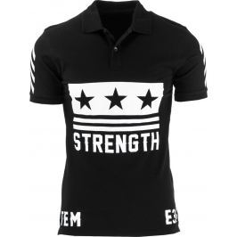 BASIC Pánské černé polo tričko (px0073) velikost: S, odstíny barev: černá