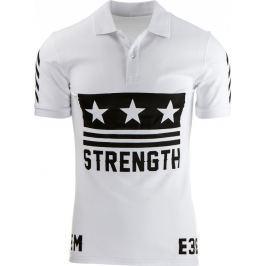 BASIC Pánské bílé polo tričko (px0074) velikost: S, odstíny barev: bílá