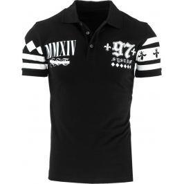 BASIC Pánské černé polo tričko (px0075) velikost: S, odstíny barev: černá