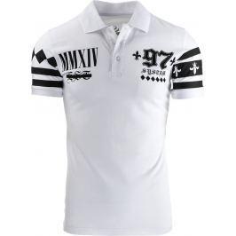 BASIC Pánské bílé polo tričko (px0076) velikost: S, odstíny barev: bílá