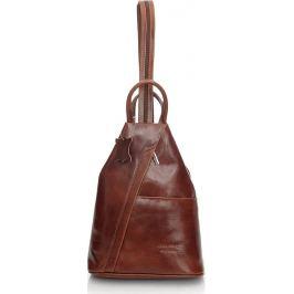 VERA PELLE Dámský kožený hnědý batoh (Pl2b) Velikost: univerzální