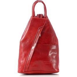 VERA PELLE Dámský kožený červený batoh (Pl2d) Velikost: univerzální