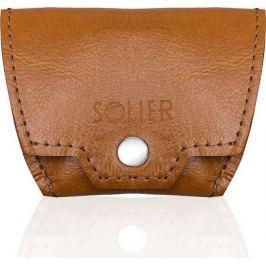 Pánská hnědá peněženka na mince SOLIER (SA10 camel) velikost: univerzální, odstíny barev: hnědá