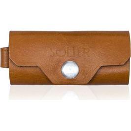 Kožená hnědá peněženka na klíče SOLIER (SA11 camel) Velikost: univerzální