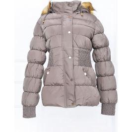 BASIC Dámská zimní kapučínová bunda - K381 Velikost: L
