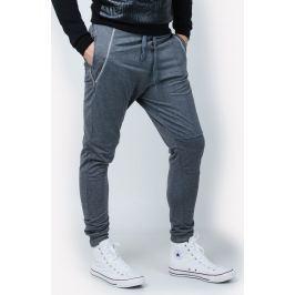 Pánské tmavě šedé tepláky se zipy W2278 velikost: 2XL, odstíny barev: šedá