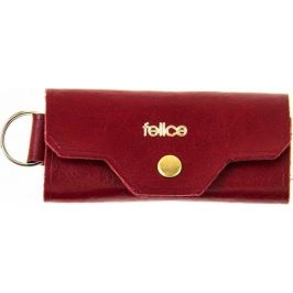 FELICE Kožené pánské pouzdro na klíče SOLIER (FA11 RED) Velikost: univerzální