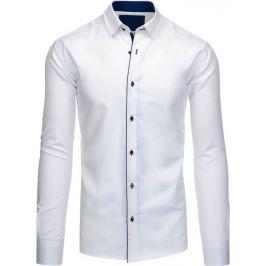 BASIC Pánská bílá košile (dx1199) Velikost: 2XL