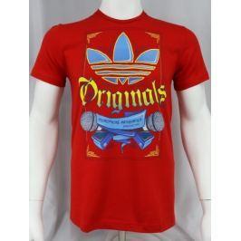 Pánské červené tričko ADIDAS velikost: M, odstíny barev: červená