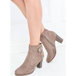 Kotníkové béžové boty - 304918 velikost: 36, odstíny barev: béžová