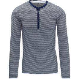 BASIC Pánské pruhované modré tričko (lx0389) Velikost: 2XL