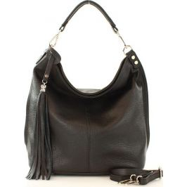 Kožená černá kabelka MAZZINI (s105a) Velikost: univerzální