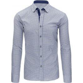BASIC Modrá kostkovaná košile (dx1224) Velikost: 2XL