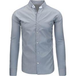 BASIC Pánská šedá košile (dx1251) velikost: XL, odstíny barev: šedá