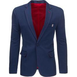 BASIC Pánské tmavě modré sako (mx0213) velikost: S, odstíny barev: modrá