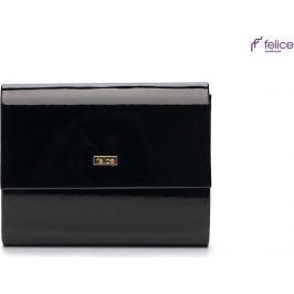 Černá listová kabelka FELICE (F14 BLACK SHINY) Velikost: univerzální