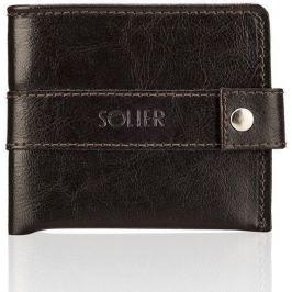 Elegantní pánská peněženka SOLIER - SW05 brown velikost: univerzální, odstíny barev: hnědá