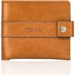 Elegantní pánská peněženka SOLIER - SW05 camel velikost: univerzální, odstíny barev: hnědá