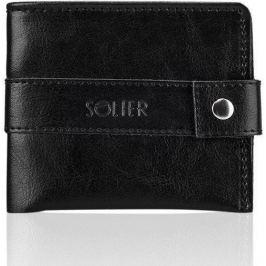 Elegantní pánská peněženka SOLIER - SW05 black velikost: univerzální, odstíny barev: černá