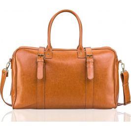 SOLIER Pánská kožená taška HAMILTON  (SL16 CAMEL) Velikost: univerzální