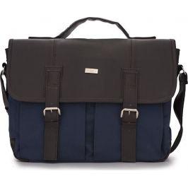 Pánská vysoce kvalitní taška SOLIER (S14 NAVY/BROWN) velikost: univerzální, odstíny barev: modrá