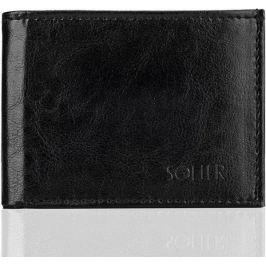 SOLIER Pánská černá peněženka (SW06 black) velikost: univerzální, odstíny barev: černá